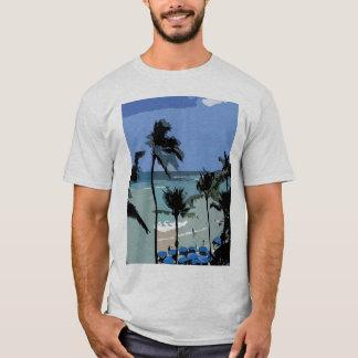 Blue Beach Umbrellas T-Shirt