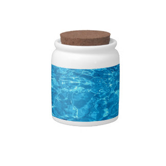 Blue Beach Water Design Candy Dishes