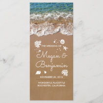 Blue Beach Waves and Sand Wedding Programs