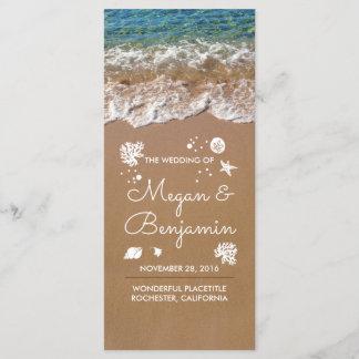 Blue Beach Waves and Sand Wedding Programs