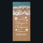 "Blue Beach Waves and Sand Wedding Programs<br><div class=""desc"">Seaside wedding programs</div>"