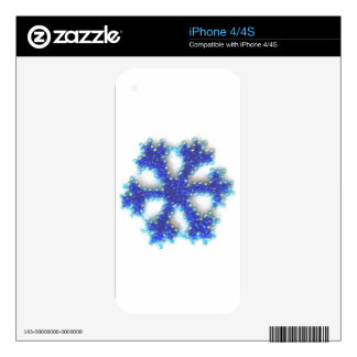 Blue Bead Snowflake Decals For iPhone 4S