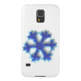 Blue Bead Snowflake Galaxy S5 Cover