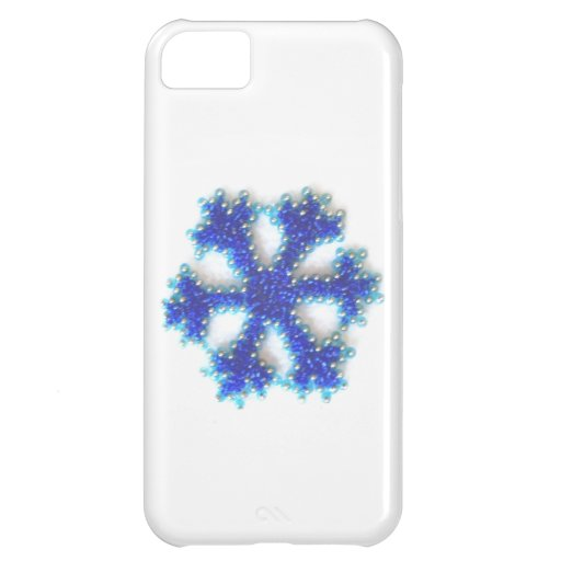 Blue Bead Snowflake iPhone 5C Cover