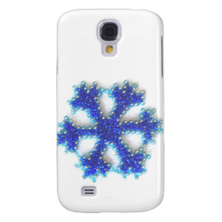 Blue Bead Snowflake Samsung Galaxy S4 Cover