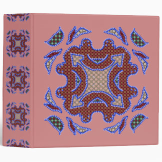 Blue Beaded Patchwork Motif Binder
