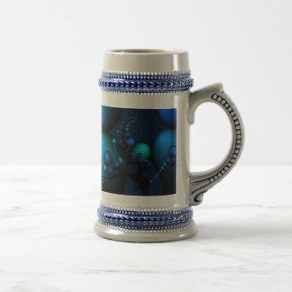 Blue Beads from Fractal Art Coffee Mug
