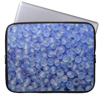 Blue beads laptop sleeve