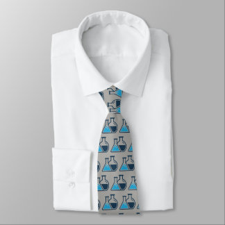 Blue Beakers Chemistry Design Necktie