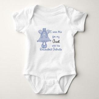 Blue Bear Angel :: I Wear for My Aunt RA Design Baby Bodysuit