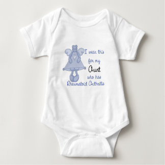 Blue Bear Angel :: I Wear for My Aunt RA Design Infant Creeper