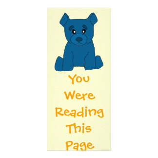 Blue Bear Bookmark Template Full Color Rack Card