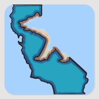 Blue bear Cali state symbol stickers