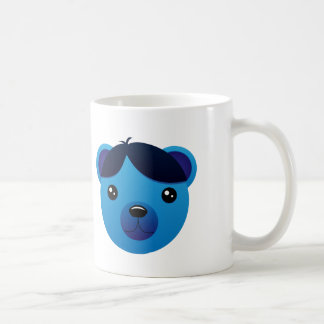 Blue Bear Cartoon - White Coffee Mug