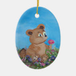 blue bear christmas ornament