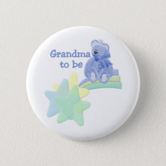 Blue Bear Grandma to Be Pinback Button