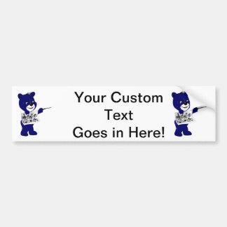 blue bear holding sheet music.png bumper sticker
