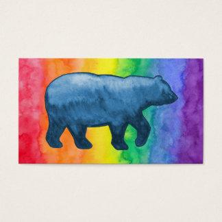 Blue Bear on Rainbow Wash Business Card