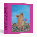 blue bear vinyl binder