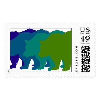 Blue Bears Postage