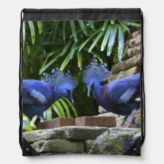 Blue Beauties Drawstring Backpack