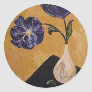 """""""Blue Beauties"""" Fine Art Products Classic Round Sticker"""