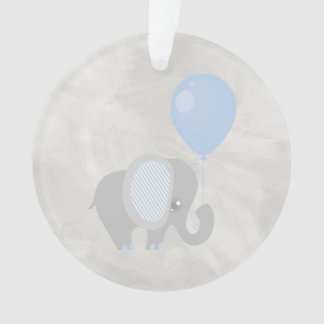 Blue Beautiful Baby Elephant Ornament