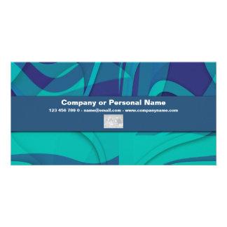 Blue Beauty business cards - customizable Photo Card Template