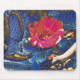 Blue Beavertail Cactus Mouse Pad