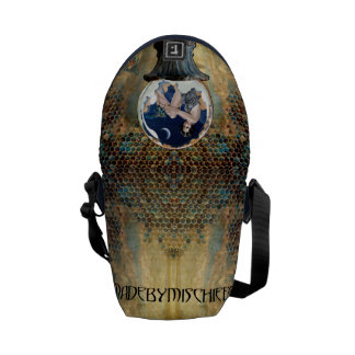 Blue Bee by Moonlight Small Messenger Bag