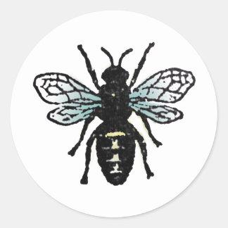 Blue Bee Classic Round Sticker