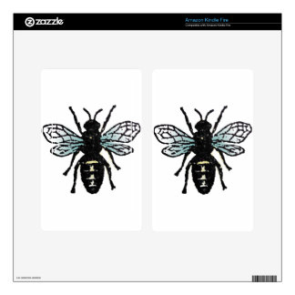 Blue Bee Kindle Fire Decal