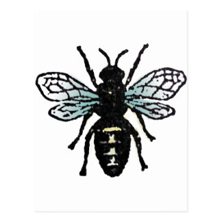 Blue Bee Postcard