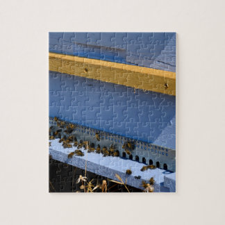 Blue beehive jigsaw puzzle