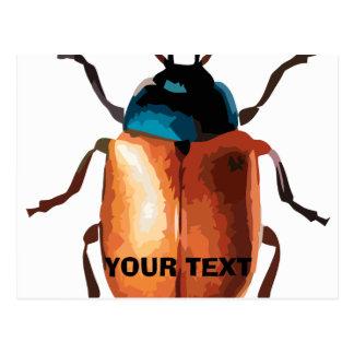 Blue Beetle Postcard