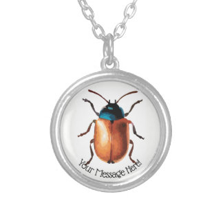 Blue Beetle Silver Plated Necklace