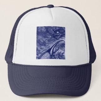 Blue Beetles Vintage Nature Print Trucker Hat