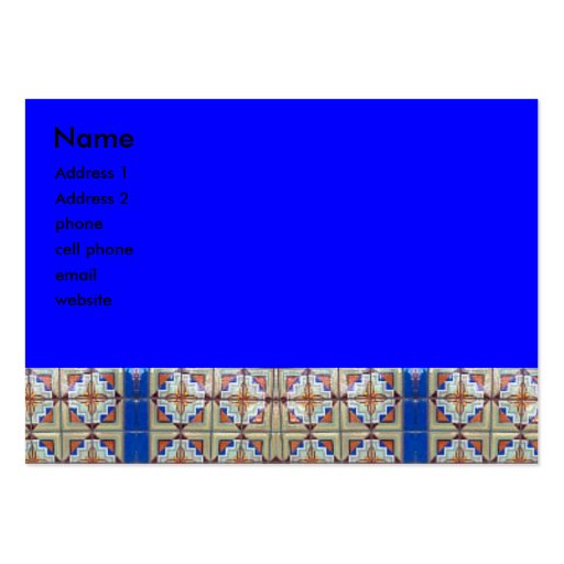 blue beige abstract large business cards (Pack of 100)
