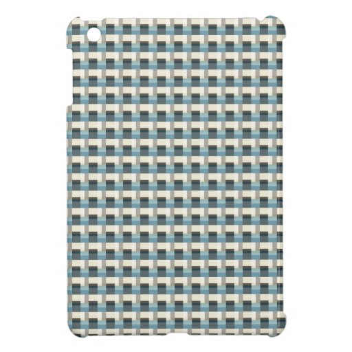 Blue, Beige And Brown Pattern iPad Mini Cases