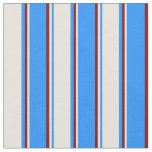 [ Thumbnail: Blue, Beige, and Maroon Lines/Stripes Pattern Fabric ]