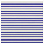 [ Thumbnail: Blue & Beige Colored Lines/Stripes Pattern Fabric ]