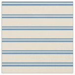 [ Thumbnail: Blue & Beige Colored Pattern Fabric ]