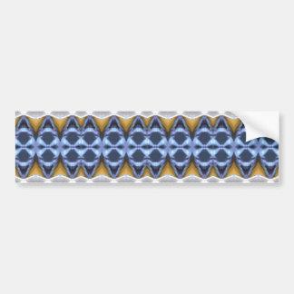 Blue Beige Elegant Design Bumper Sticker