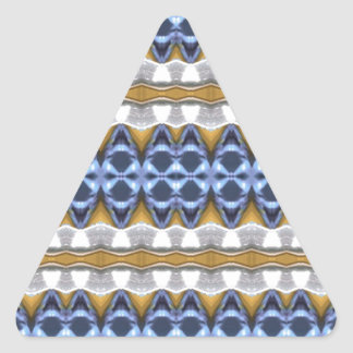 Blue Beige Elegant Design Triangle Sticker