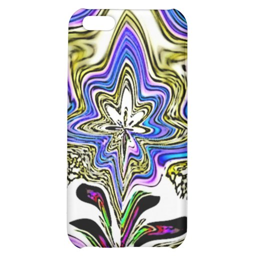Blue Beige Fractal Flower Speck Case iPhone 5C Covers