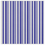 [ Thumbnail: Blue & Beige Lined Pattern Fabric ]