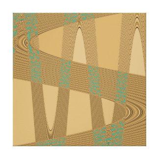Blue Beige Modern Abstract Wave Pattern Canvas Print