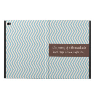 Blue Beige Modern Chevron Pattern Brown Stripe Powis iPad Air 2 Case