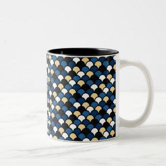 Blue Beige Pattern Mug