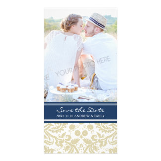 Blue Beige Save the Date Wedding Photo Cards